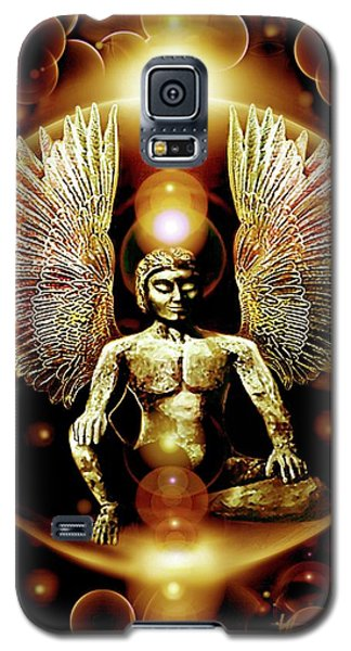 Galaxy S5 Case featuring the painting Guardian  Archangel by Hartmut Jager