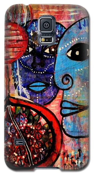 Galaxy S5 Case featuring the painting Guarding The Pomegranate by Mimulux patricia no No