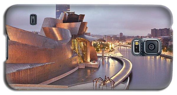 Galaxy S5 Case featuring the photograph Guggenheim Museum Bilbao Spain by Marek Stepan