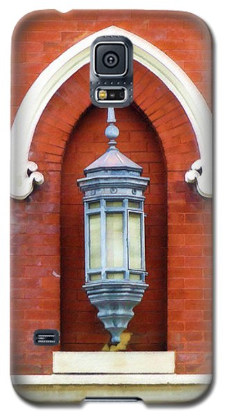 Galaxy S5 Case featuring the painting Guiding Light At The Mother Church by Sandy MacGowan