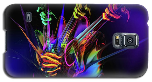 Galaxy S5 Case featuring the painting Guitar 3000 by DC Langer