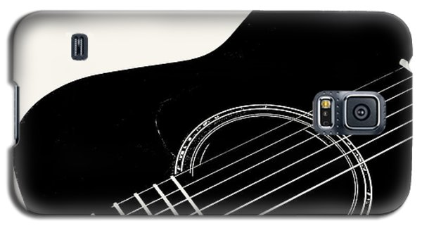 Guitar, Black And White,  Galaxy S5 Case