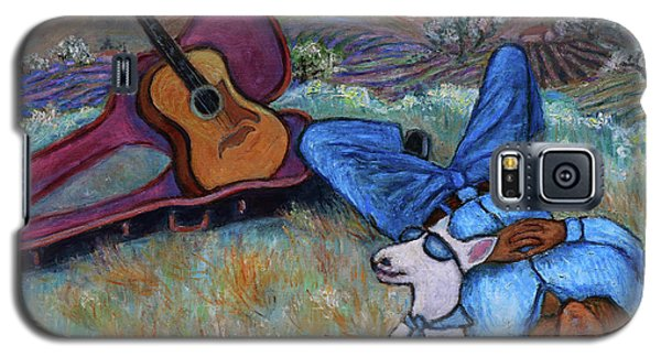 Guitar Doggy And Me In Wine Country Galaxy S5 Case