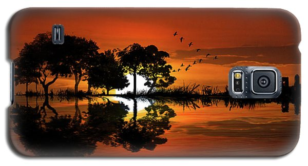Guitar Landscape At Sunset Galaxy S5 Case