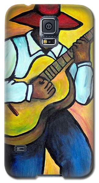 Galaxy S5 Case featuring the painting Guitar Man by Diane Britton Dunham