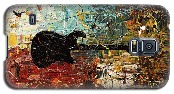 Galaxy S5 Case featuring the painting Guitar Story by Carmen Guedez