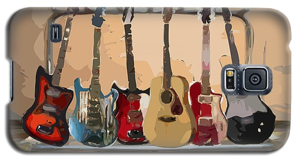 Guitars On A Rack Galaxy S5 Case