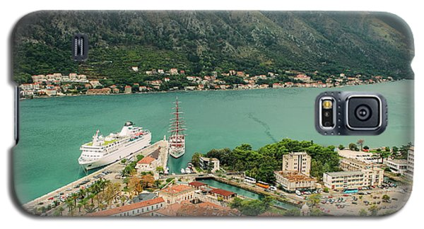 Gulf Of Kotor With Cruise Liner Galaxy S5 Case