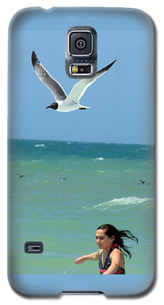 Gull And Girl Galaxy S5 Case