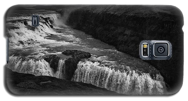Galaxy S5 Case featuring the photograph Gullfoss Waterfall by Nancy Dempsey