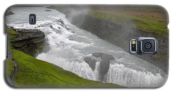 Galaxy S5 Case featuring the photograph Gullfoss Waterfall No. 2 by Joe Bonita