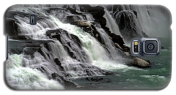 Galaxy S5 Case featuring the photograph Gullfoss Waterfalls, Iceland by Dubi Roman