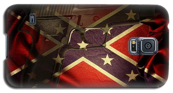 Gun And Flag Galaxy S5 Case by Les Cunliffe