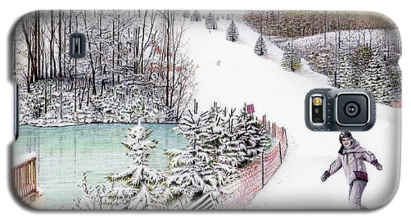 Galaxy S5 Case featuring the painting Gunnar Slope And The Ducky Pond by Albert Puskaric