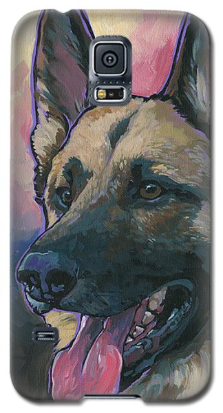 Galaxy S5 Case featuring the painting Gunner by Nadi Spencer
