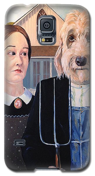 Galaxy S5 Case featuring the painting Gunther Goes Goth by Diane Daigle