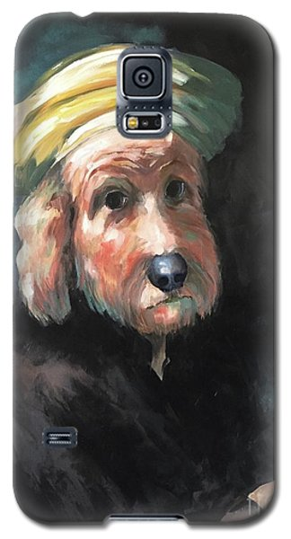 Galaxy S5 Case featuring the painting Gunther's Self Portrait by Diane Daigle