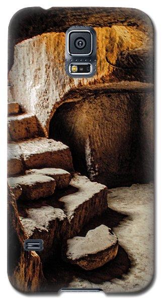 Galaxy S5 Case featuring the photograph Guzelyurt, Turkey - Underground Steps by Mark Forte