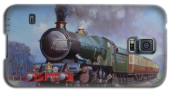 Galaxy S5 Case featuring the painting Gwr King On Dainton Bank. by Mike  Jeffries