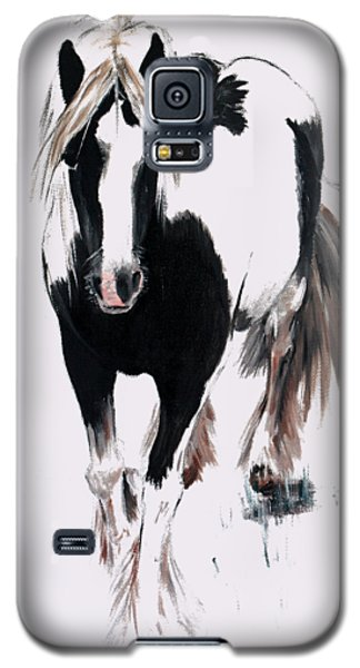 Galaxy S5 Case featuring the painting Gypsy Vanner by Isabella F Abbie Shores FRSA