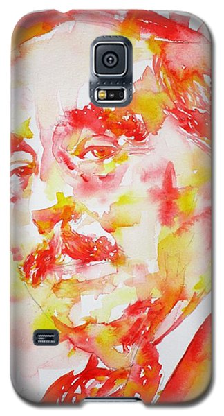 Galaxy S5 Case featuring the painting H. G. Wells - Watercolor Portrait by Fabrizio Cassetta