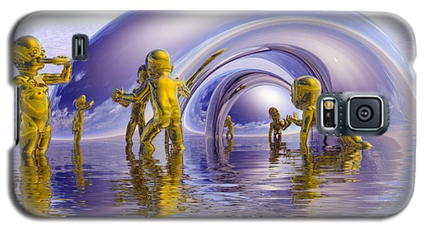 Galaxy S5 Case featuring the painting H2O by Robby Donaghey