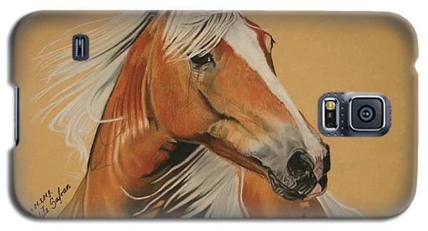 Galaxy S5 Case featuring the pastel Haflinger  by Melita Safran