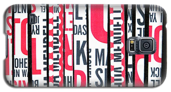Galaxy S5 Case featuring the mixed media Haiku In Red And Black by Elena Nosyreva