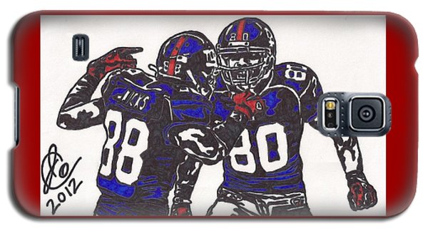 Hakeem Nicks And Victor Cruz Galaxy S5 Case by Jeremiah Colley