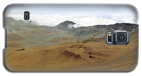 Galaxy S5 Case featuring the photograph Haleakala Crater Panorama by Peter J Sucy