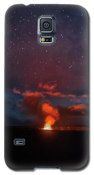 Halemaumau Crater At Night Galaxy S5 Case