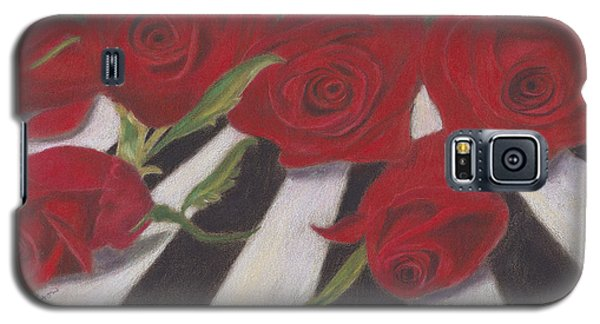 Galaxy S5 Case featuring the painting Half Dozen Red by Arlene Crafton
