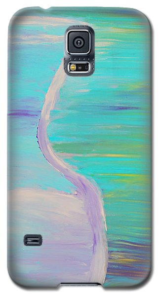 Galaxy S5 Case featuring the painting Half by Lola Connelly