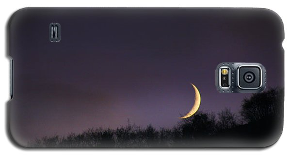 Galaxy S5 Case featuring the photograph Half Moon by Martina  Rathgens
