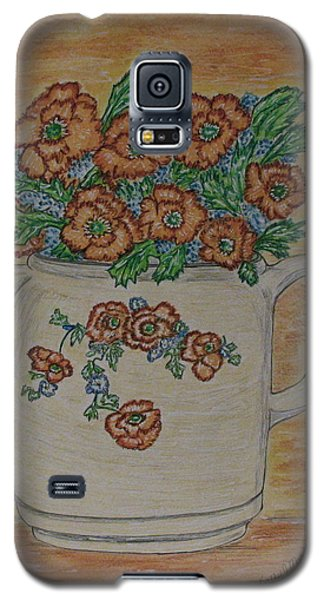 Galaxy S5 Case featuring the painting Hall China Orange Poppy And Poppies by Kathy Marrs Chandler
