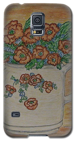 Hall China Orange Poppy And Poppies Galaxy S5 Case by Kathy Marrs Chandler