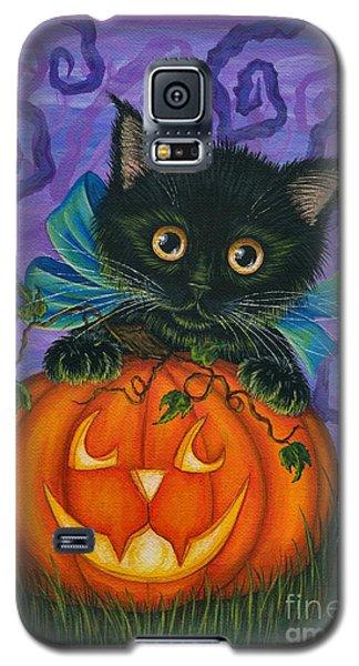 Halloween Black Kitty - Cat And Jackolantern Galaxy S5 Case