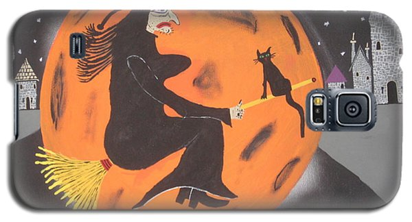 Galaxy S5 Case featuring the painting Halloween Night At Disneyland by Jeffrey Koss