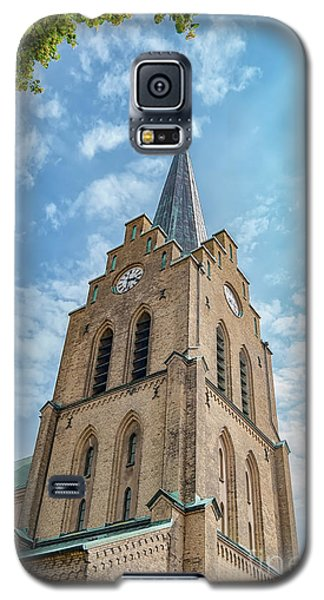 Galaxy S5 Case featuring the photograph Halmstad Church In Sweden by Antony McAulay