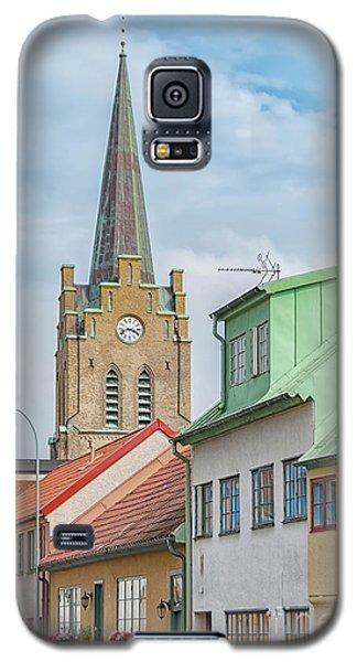 Galaxy S5 Case featuring the photograph Halmstad Street Scene by Antony McAulay