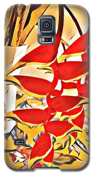 Halyconia Bouquet In Orange Galaxy S5 Case