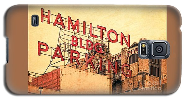 Hamilton Bldg Parking Sign Galaxy S5 Case