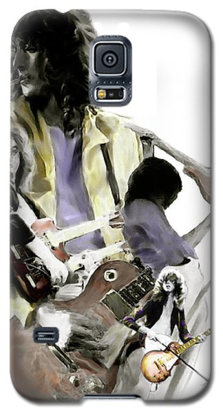 Hammer Of The Gods   Jimmy Page Galaxy S5 Case by Iconic Images Art Gallery David Pucciarelli