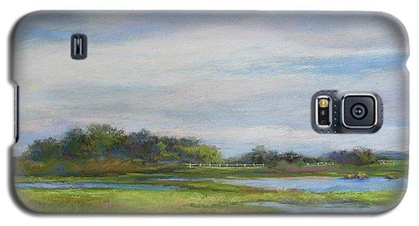 Galaxy S5 Case featuring the painting Hammonassett Sky by Vikki Bouffard