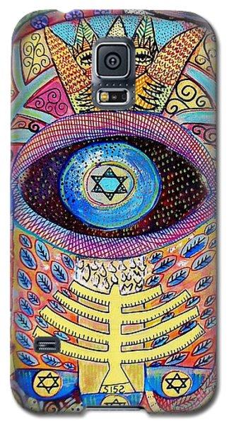 -hamsa Menorah Tree Of Life - Bright Lights  Galaxy S5 Case