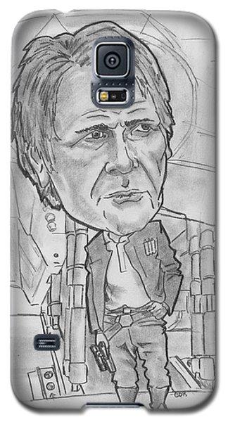 Han Solothe Force Awakens Galaxy S5 Case by Chris DelVecchio