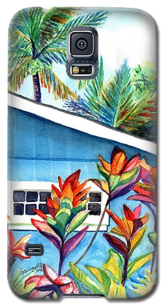 Galaxy S5 Case featuring the painting Hanalei Cottage by Marionette Taboniar