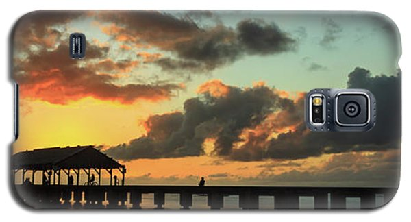 Hanalei Pier Sunset Panorama Galaxy S5 Case