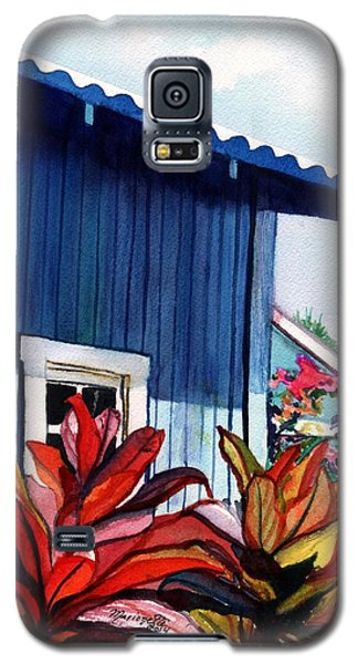 Galaxy S5 Case featuring the painting Hanapepe Town by Marionette Taboniar
