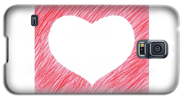 Design Galaxy S5 Case - Hand-drawn Red Heart Shape by GoodMood Art